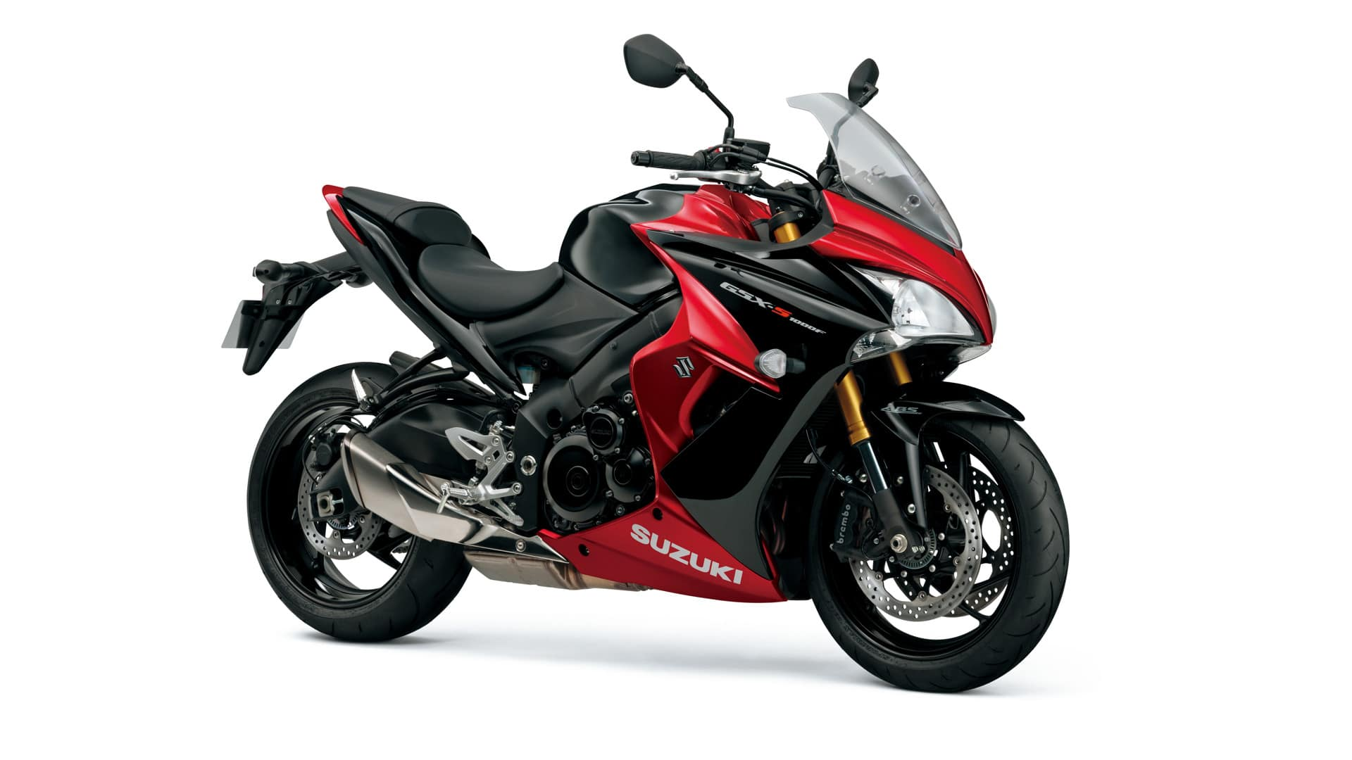 2016 Suzuki GSX-S1000F in the Candy Red/Sparkle Black colour scheme