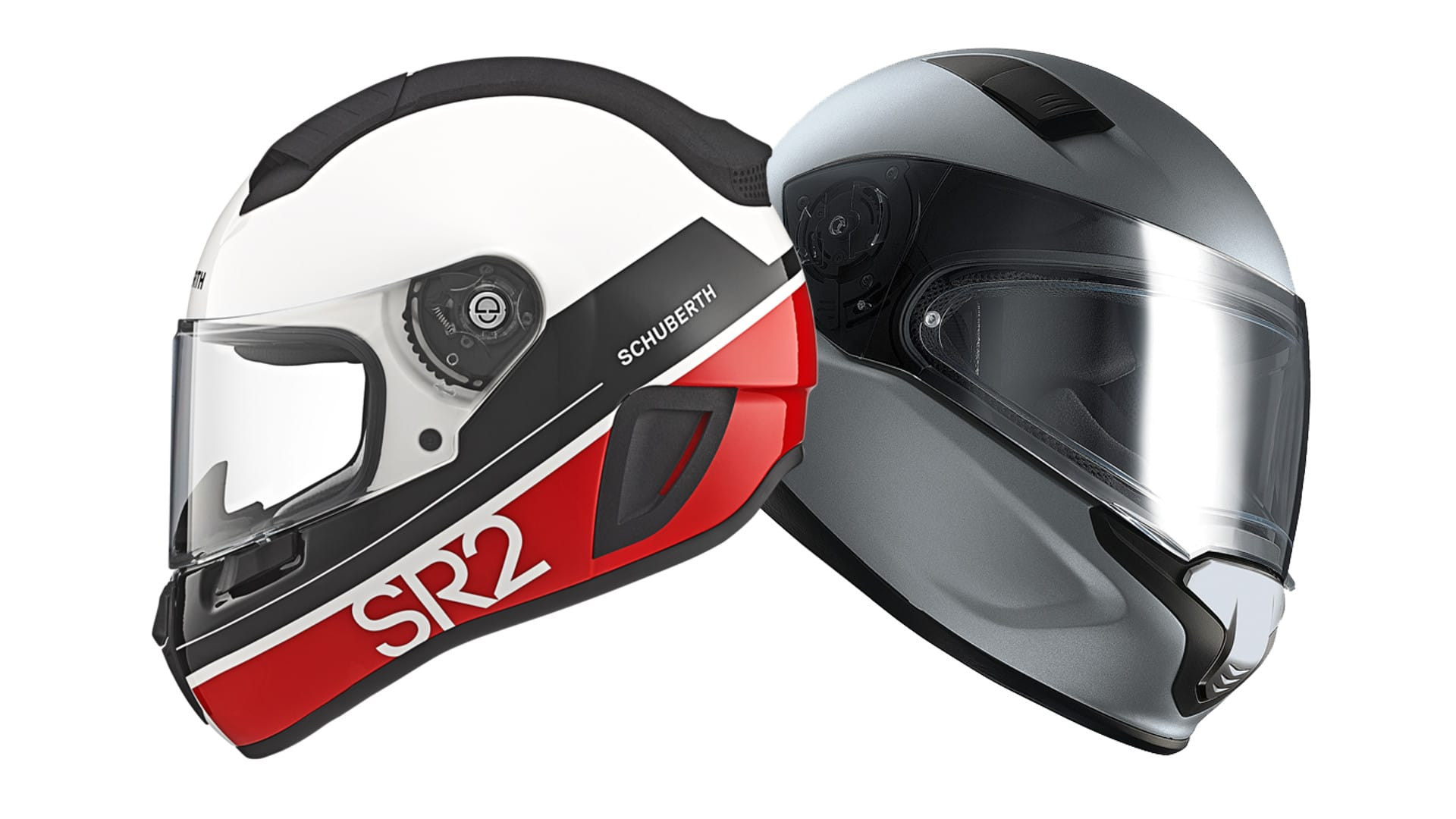 Two European ECE 22.05 standard helmets