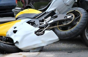 Scene of a serious motorcycle crash