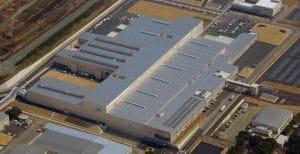 Aerial view of Honda's Kumamoto Factory