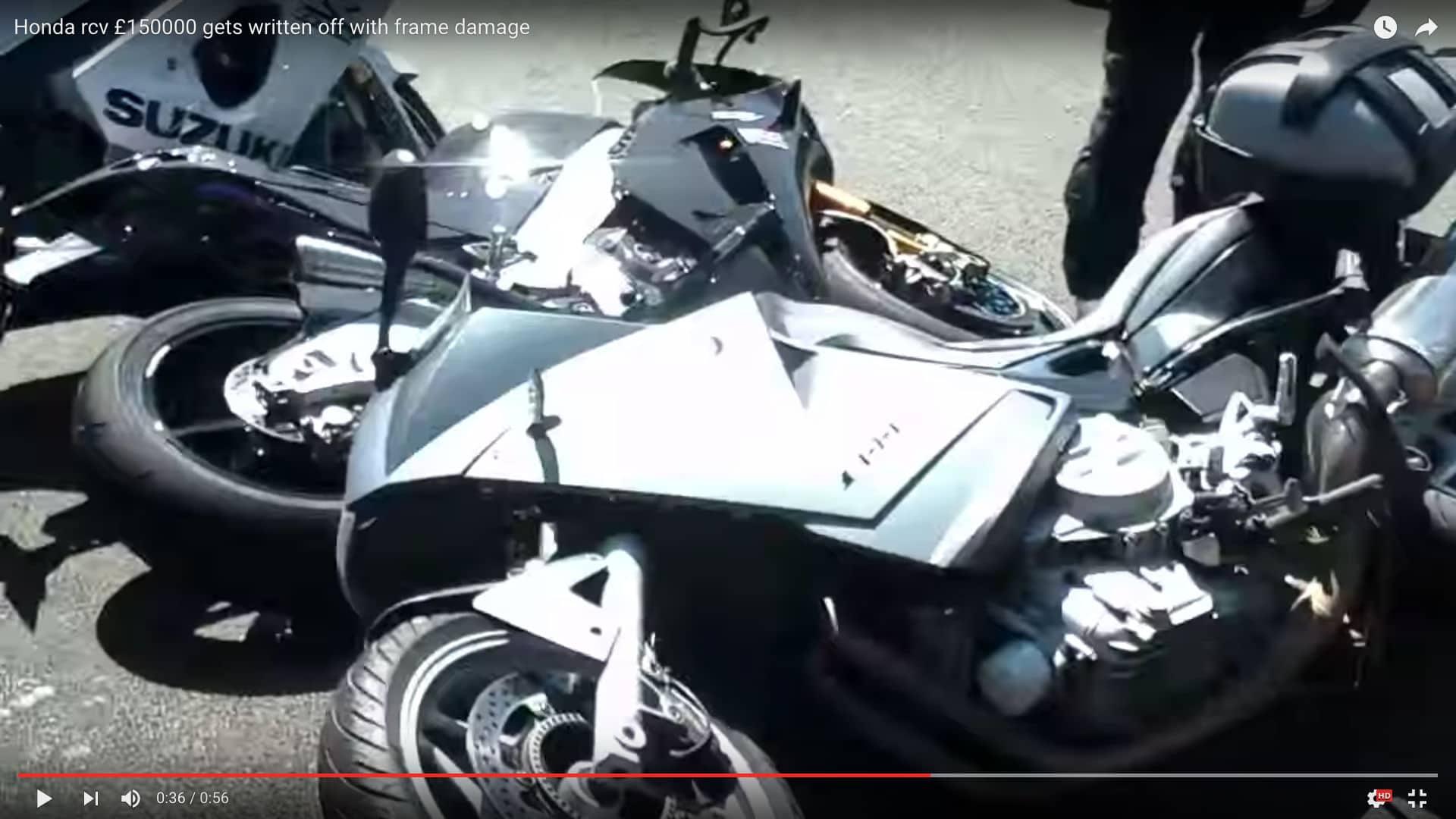 Honda RC213V-S Knocked Over