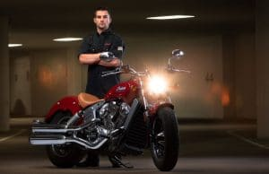 Jared Mees With Indian Scout