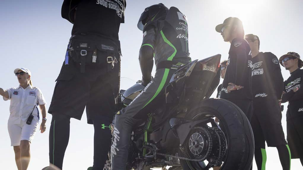 Team 38 with the Kawasaki Ninja H2R