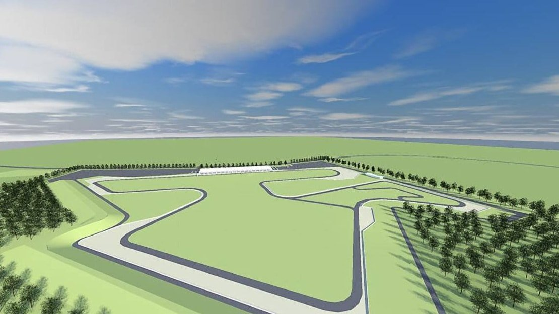 Artist's impression of the proposed Yerriyong Motorsports facility.