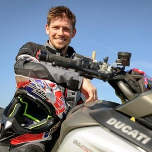 Casey Stoner with the Multistrada