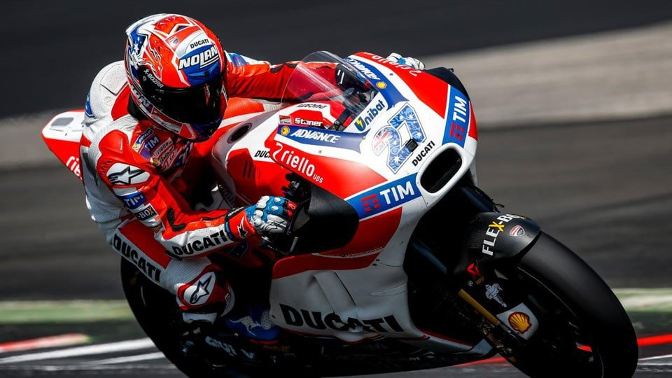 Casey Stoner on board the Desmosedici in Austria