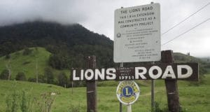 Lions Rd sign