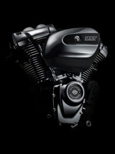 High output twin cam Milwaukee-Eight 107 engine.