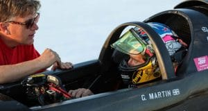 Guy Martin in Rocket Streamliner