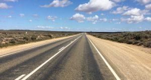 The road into Broken Hill