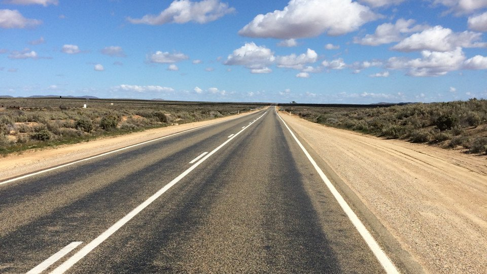 The road into Broken Hill