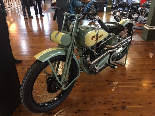 Historic bikes on display at Motorclassica