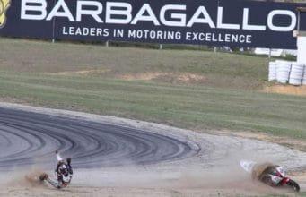 Motorcycle Crash At Barbagallo Raceway