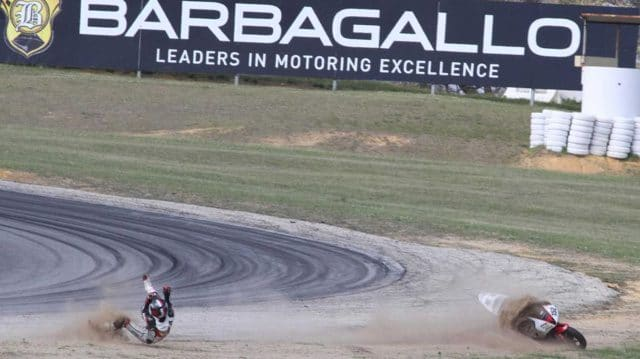 Motorcycle Crash At Barbagallo Raceway
