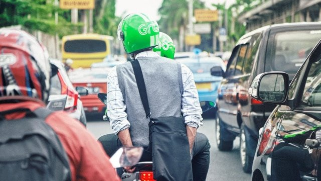 GrabBike operating in Southeast Asia
