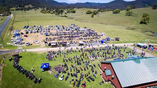 2016 Obi Obi Motorcycle Show aerial