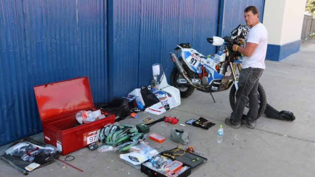 Scott Britnell Dakar preparation